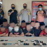 Kedapatan Bawa Paket Diduga Sabu, Polisi Tangkap Sembilan Warga Parigi Moutong